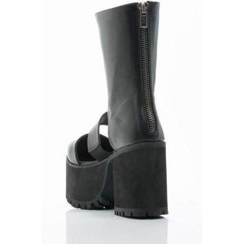 Yru Women'S Moon Wolf Platform Boots - Black-Salemonster