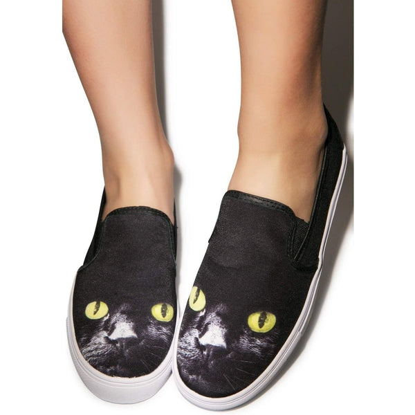 Yru Women'S Chill Kitty - Black-Salemonster