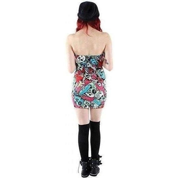 Iron Fist Tomb Sweeper Strapless Dress-Salemonster