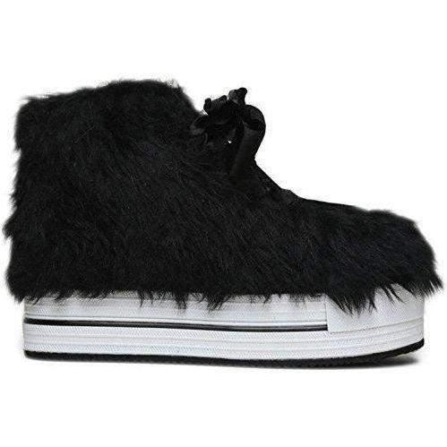 Yru Women'S Elevation Fur Sneaker Flatforms-Salemonster