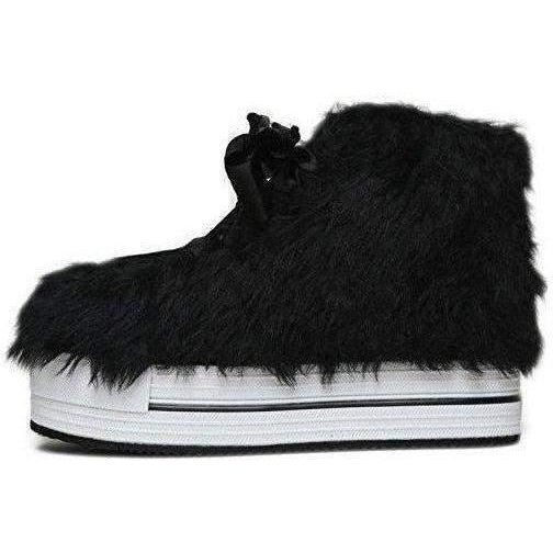 Yru Women'S Elevation Fur Sneaker Flatforms - Salemonster
