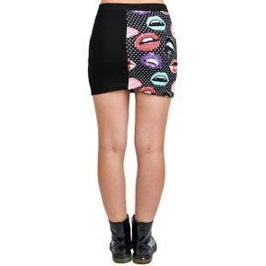 Too Fast Misfit Lips Mini Skirt-Salemonster