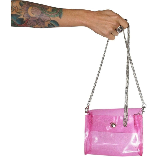 Iron Fist Pink Clear Vinyl Bag-Salemonster