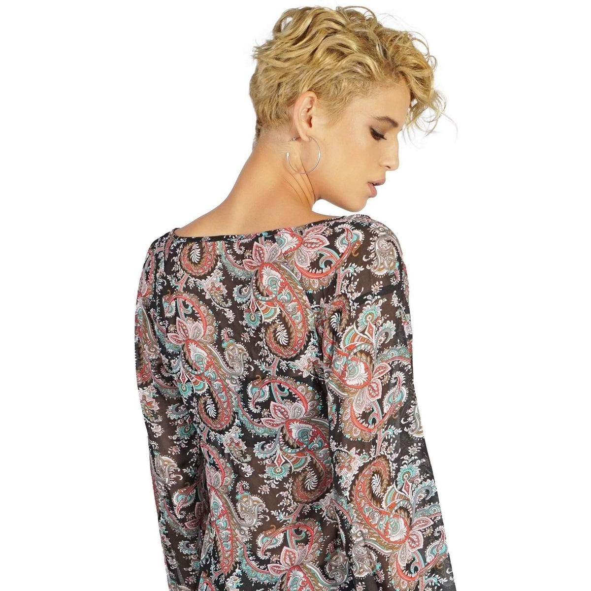 LIP SERVICE PAISLEY CHIFFON  TOP - Salemonster