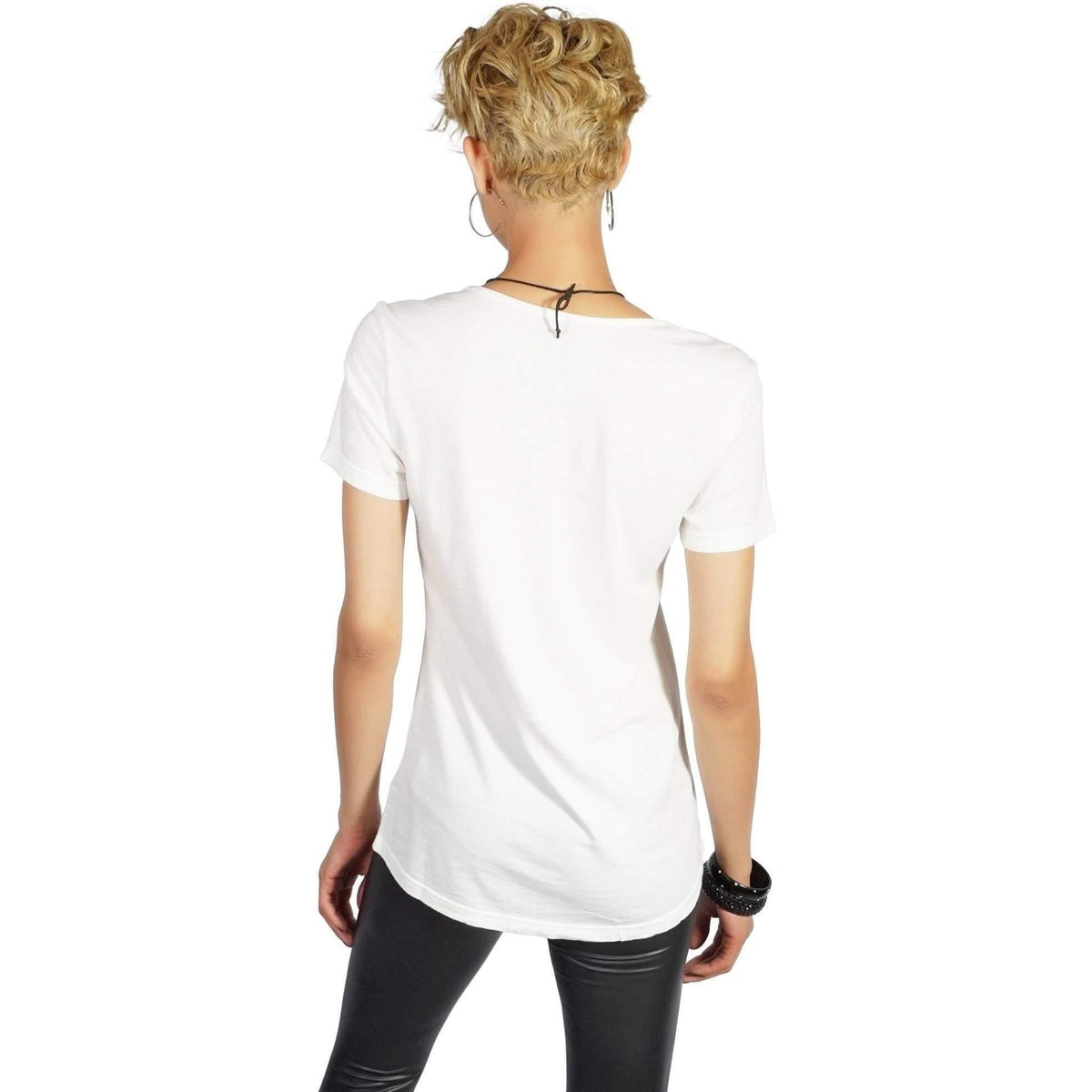KILL CITY LADIES RELAXED FIT SHORT SLEEVE - WHT - Salemonster