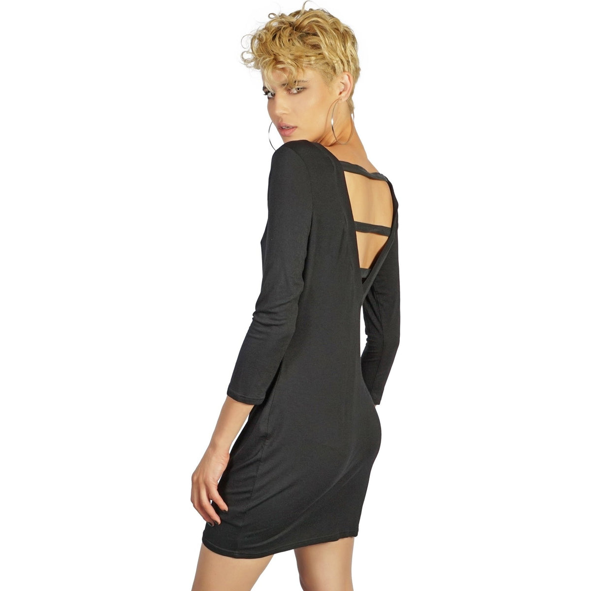 Kill City Long Sleeve Black Dress