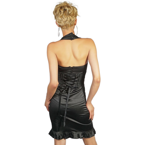 Lip Service Blacklist Saffron Dress with Lace Up Back