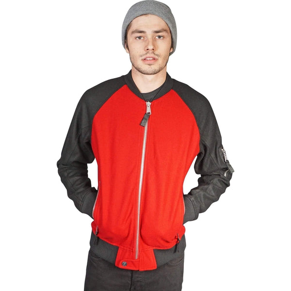 Kill City Mens Wool Bomber Jacket - Salemonster