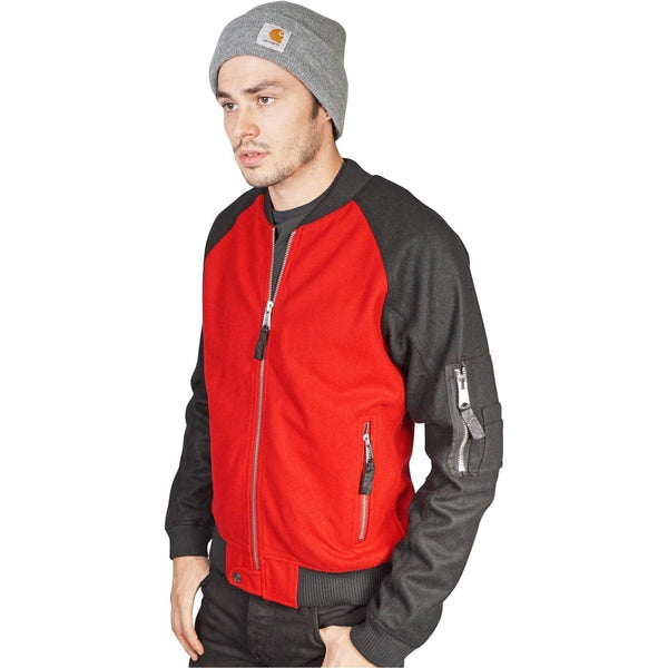 Kill City Mens Wool Bomber Jacket-Salemonster