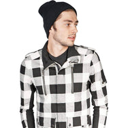 Kill City Mens Plaid Rocker Jacket-Salemonster