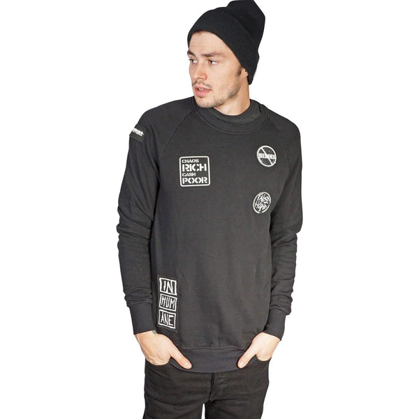 Kill City Mens Think Again Terry Crew Neck-Salemonster