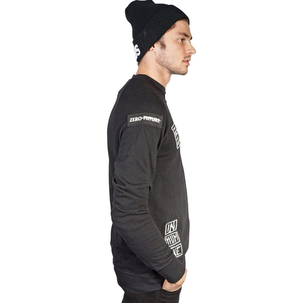 Kill City Mens Think Again Terry Crew Neck - Salemonster