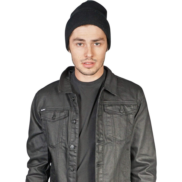 Men'S Black Kill City Coated Twill Trucker Jacket-Salemonster
