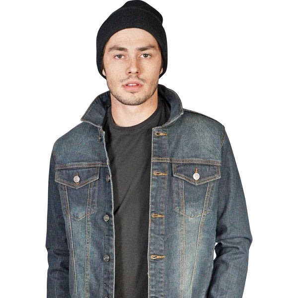 Lip Service Mens Vintage Washed Denim Trucker Jacket-Salemonster