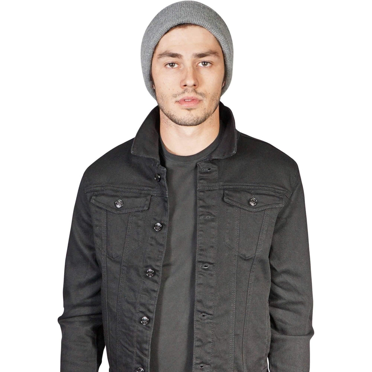 Men'S Black Lip Service Stretch Trucker Jacket-Salemonster