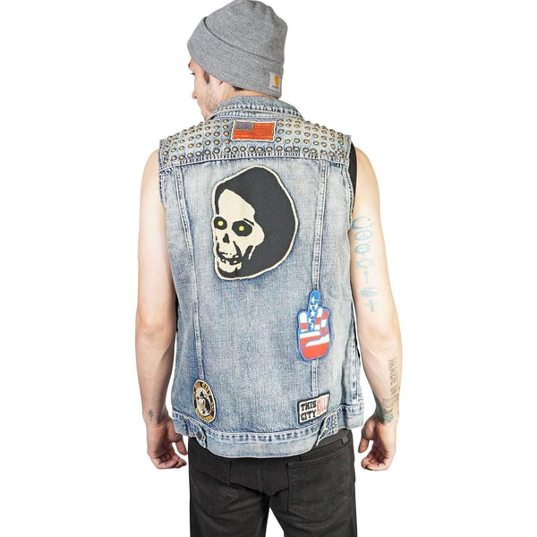Kill City Denim Studded Vest-Salemonster