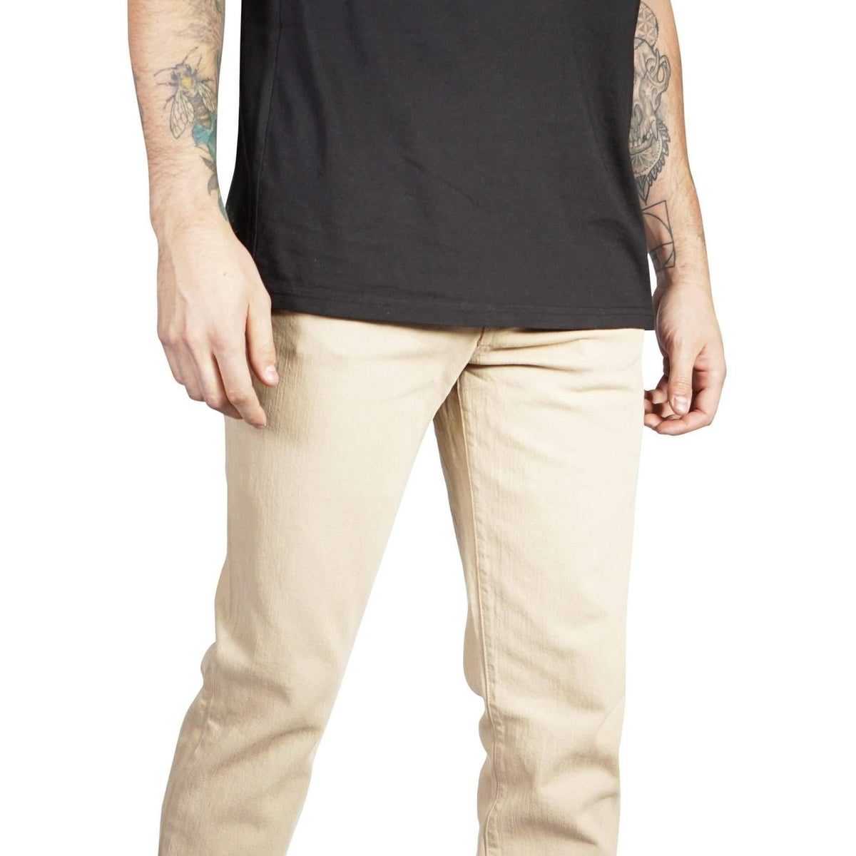 Kill City Mens MOD Slim Fit Garment Dye Stretch Twill-Salemonster