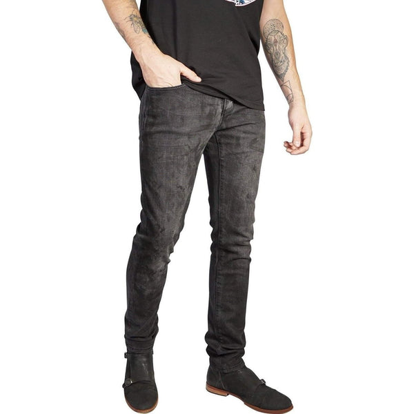 Kill City Mens Junkie Fit Stretch Denim Black Vintage Wash-Salemonster