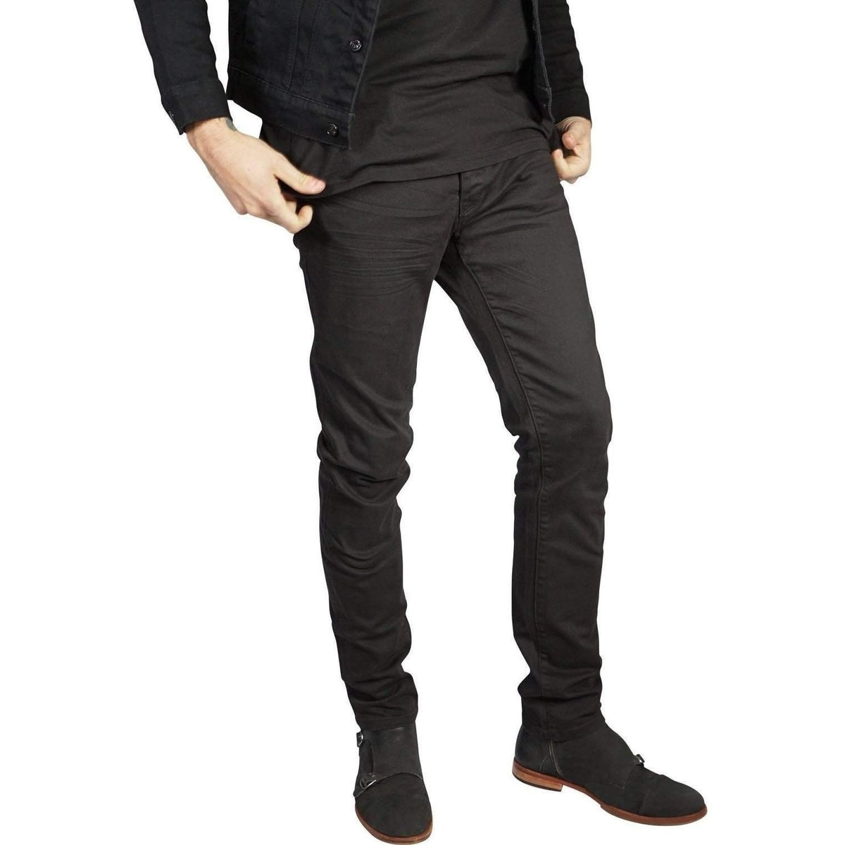 Kill City Mens Junkie Fit Stretch Denim In Classic Black-Salemonster