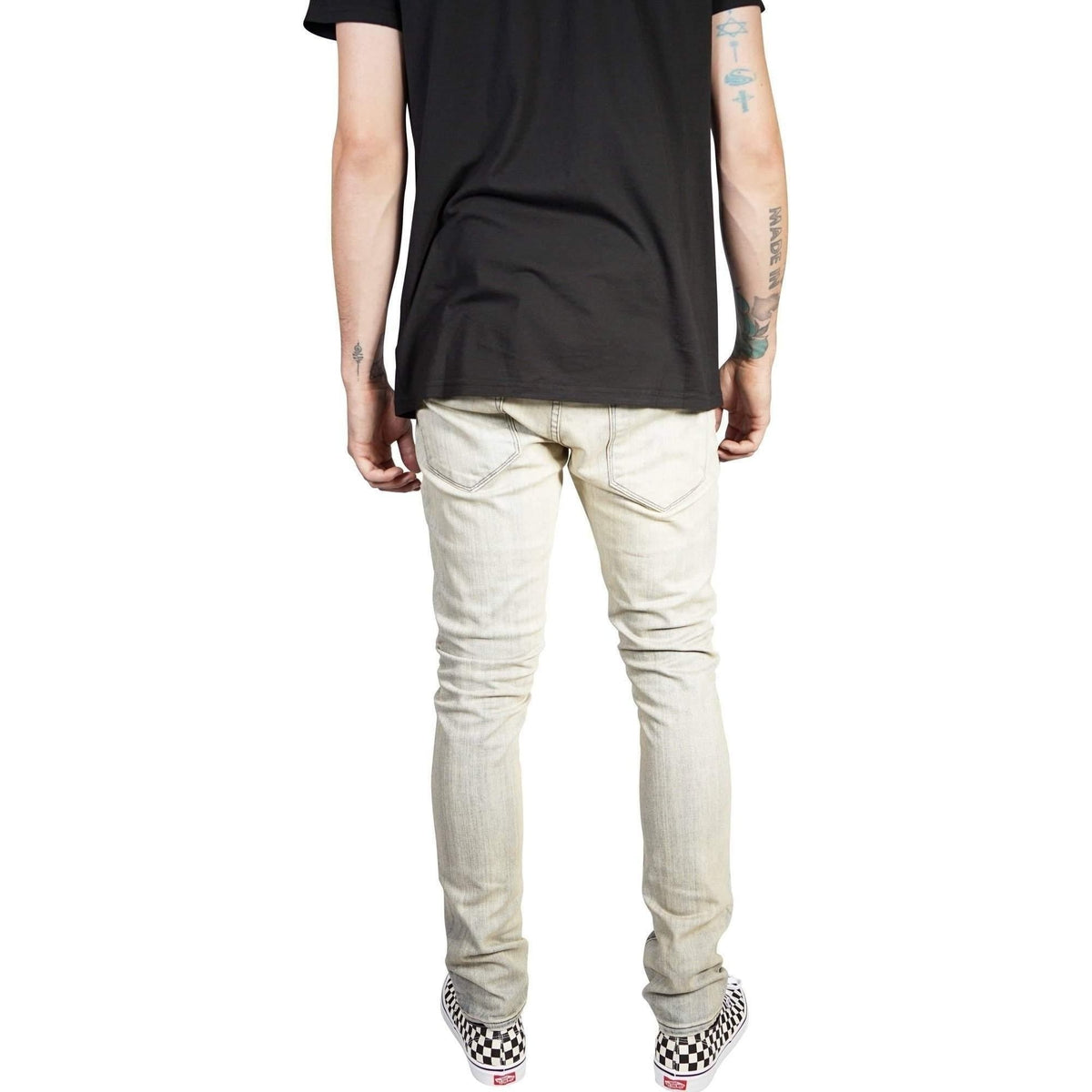 Kill City Mens Negative Wash Bleached & Over Dye Indigo Denim-Salemonster