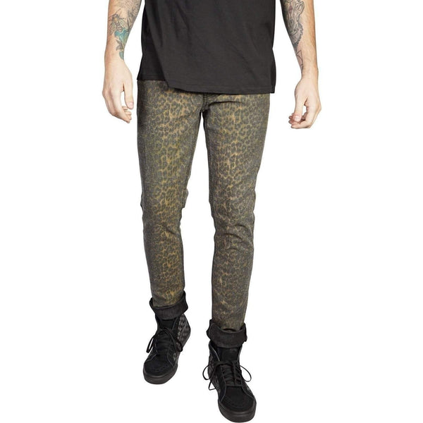 Lip Service Mens Stretch Twill Needle Fit Leopard Denim-Salemonster