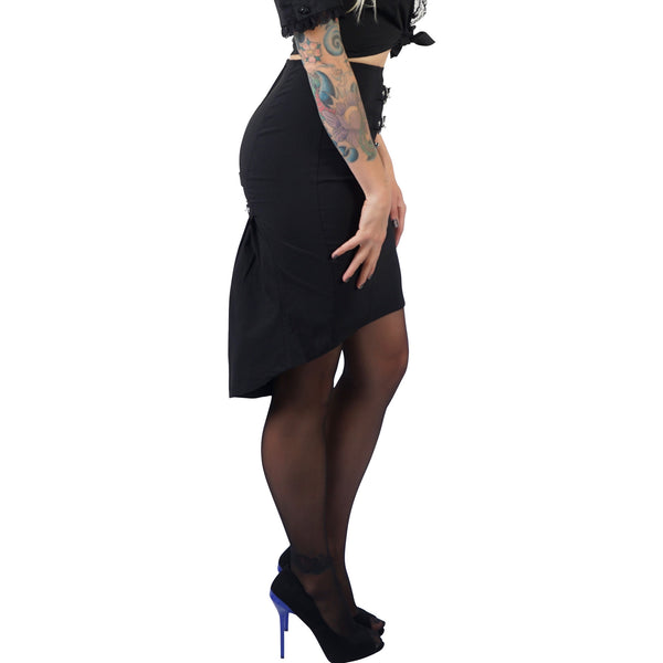 Lip Service Gangsta Pranksta Skirt Black
