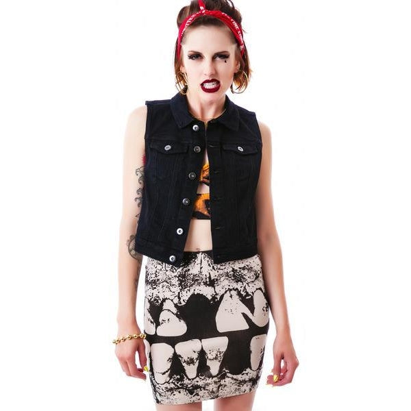 Iron Fist Loose Tooth Mini Skirt