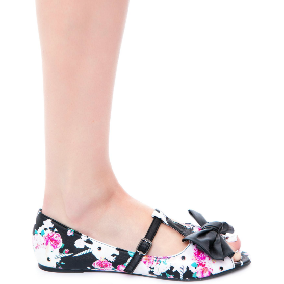 Iron Fist Buns n Roses Peep Toe Flat - Salemonster