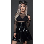 Lip Service Black Shiny Jumper Skirt