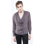 eba3c50335e Widow Men's Rayon Grey Jersey Button Front Jacket