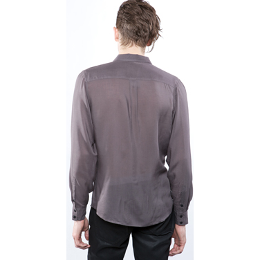 Widow Men's Rayon Grey Jersey Button Front Jacket