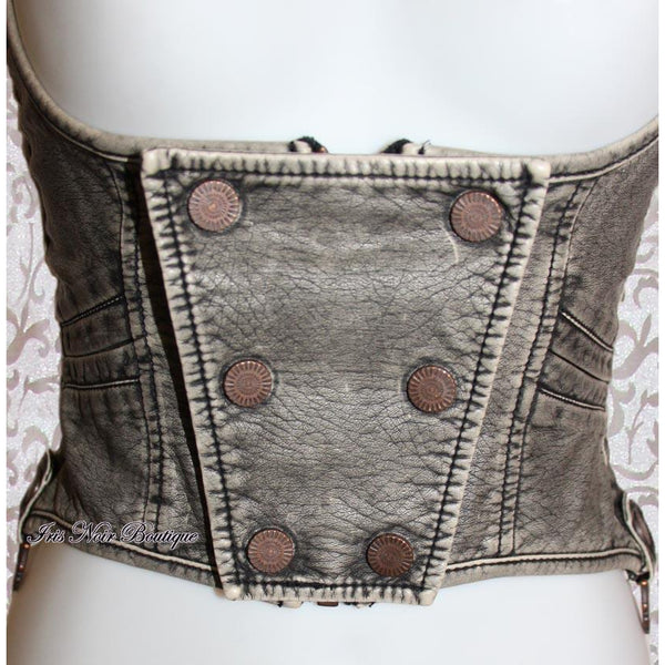 Lip Service Step in Time Underbust Corset Top Grey
