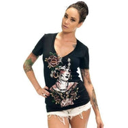 SULLEN VM BUTTERFLY V NECK T SHIRT