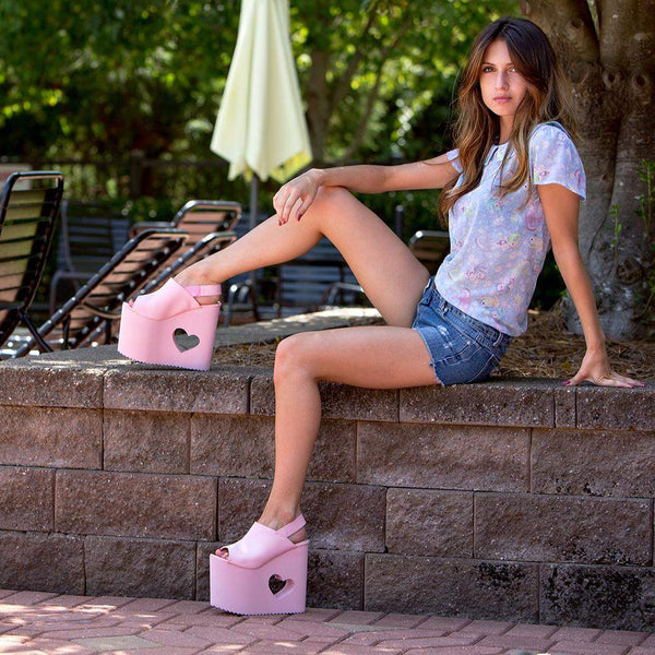 Yru Women'S BB Pink Wedge - Salemonster