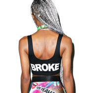 24 Hrs Flat Broke Crop Top