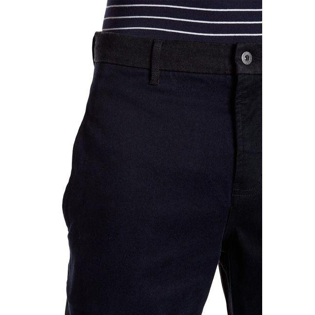 Barney Cools Men's Blue Chodus Multicolor Frayed Hem Boxy Fit Chino