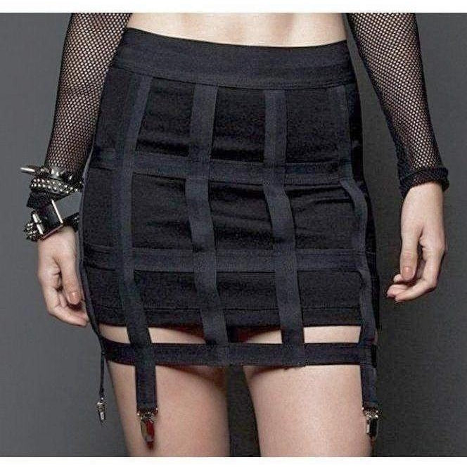 LIP SERVICE CAGE SKIRT WITH GARTERS