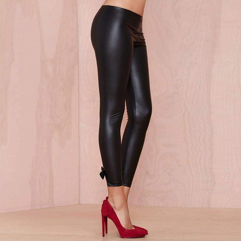 NASTY GAL ROX COATED JERSEY LEGGINGS - Salemonster