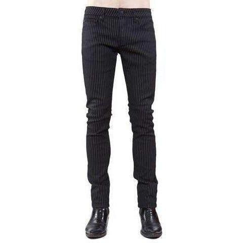 Lip Service Mens Striped Stretch Twill Needle Fit Denim-Salemonster