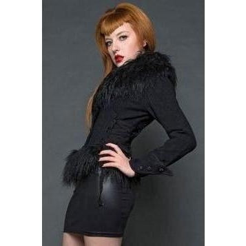 Lip Service Blacklist Wool & Cotton Anastasiya Winter Jacket with Faux Fur
