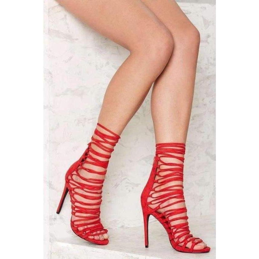 Privileged Red Fetish Pumps-Salemonster