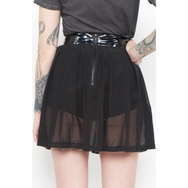 24 Hrs Behind The Pew Pleated Skirt (Black)