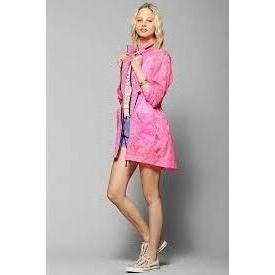 24HRS X UO Packable Rain Parka - Pink