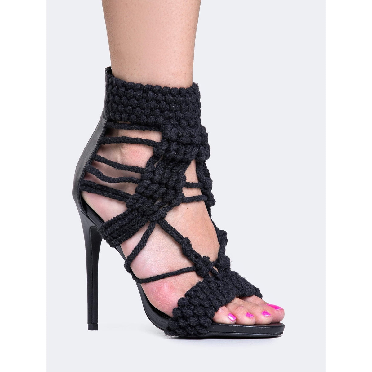 Privileged Lexie Ladies Crochet Heels-Salemonster