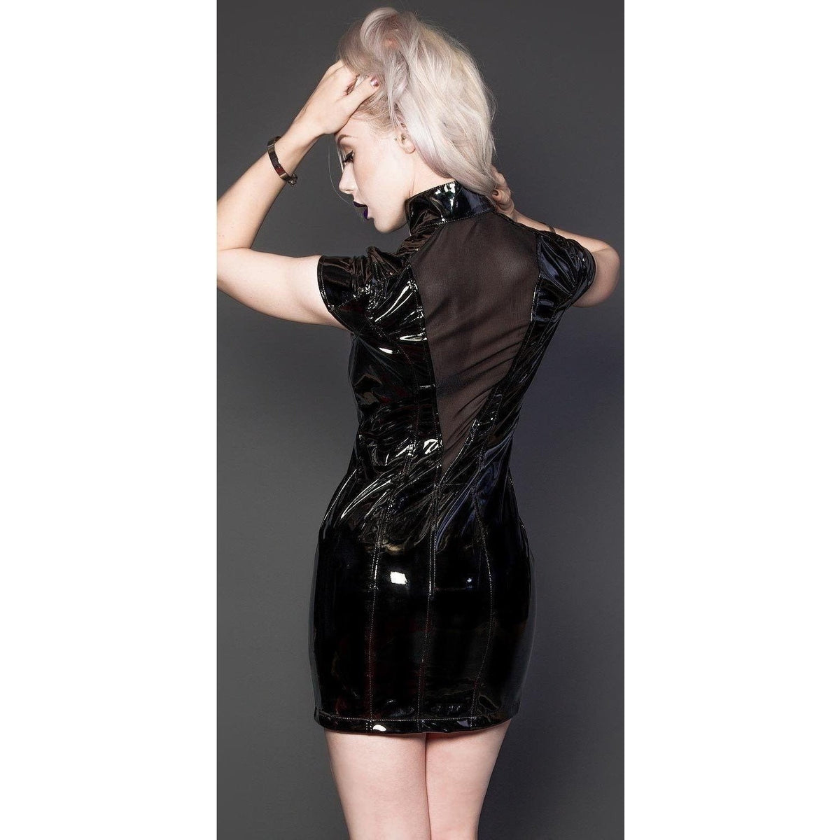 Lip Service Clasic Vinyl Black PVC Dress-Salemonster