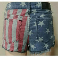 Kill City Ladies Americana Faded Wash Shorts