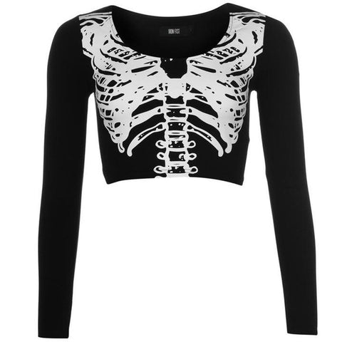 05b00ac394a22 Iron Fist Long Sleeve Wishbone Crop Top