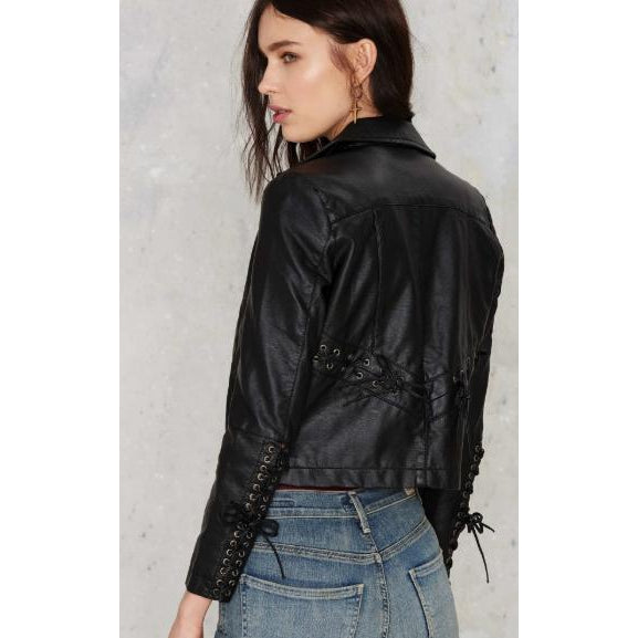 Nasty Gal Brooklyn Moto Lace-Up Jacket