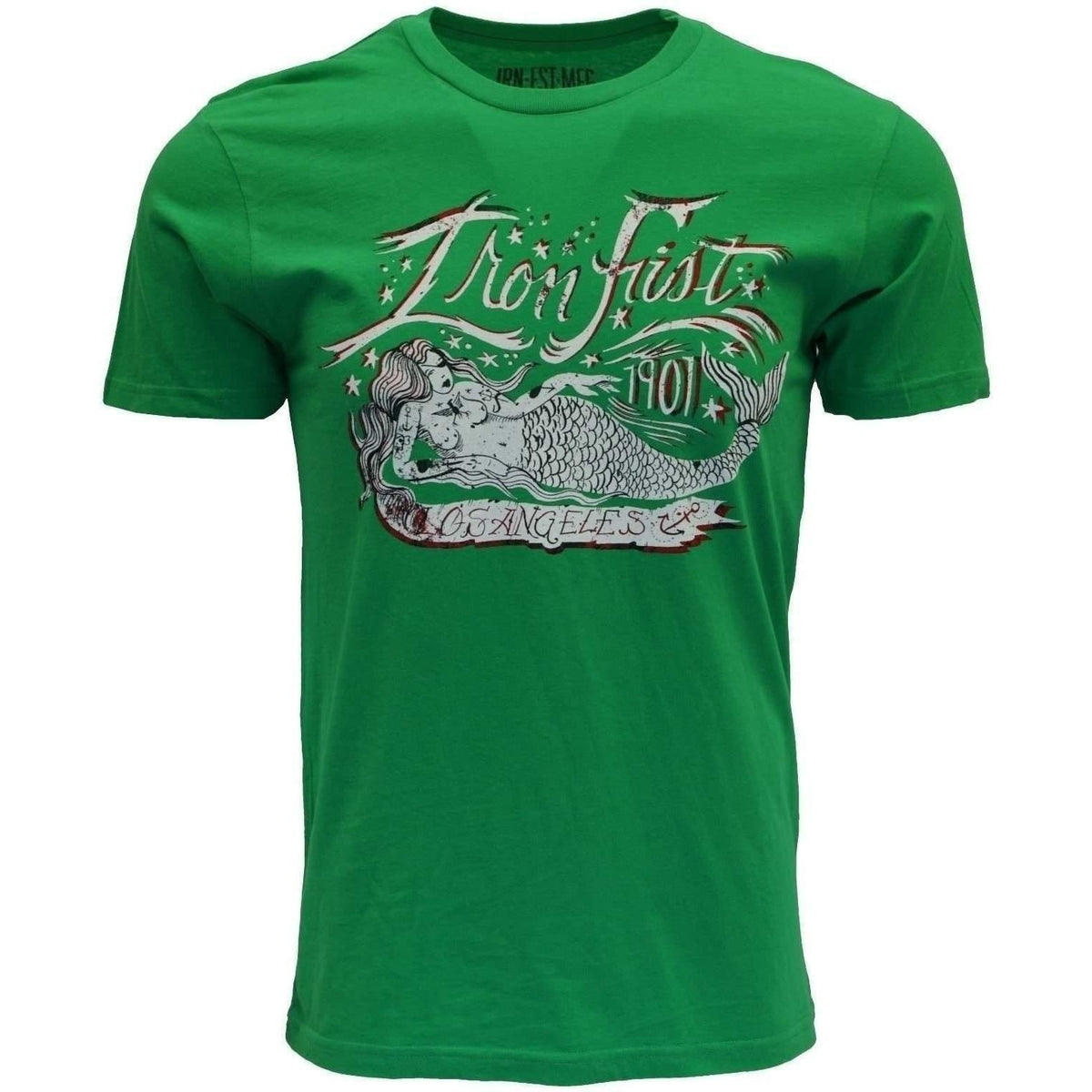IRON FIST CATCH THE DAY MEN GREEN T SHIRT - Salemonster