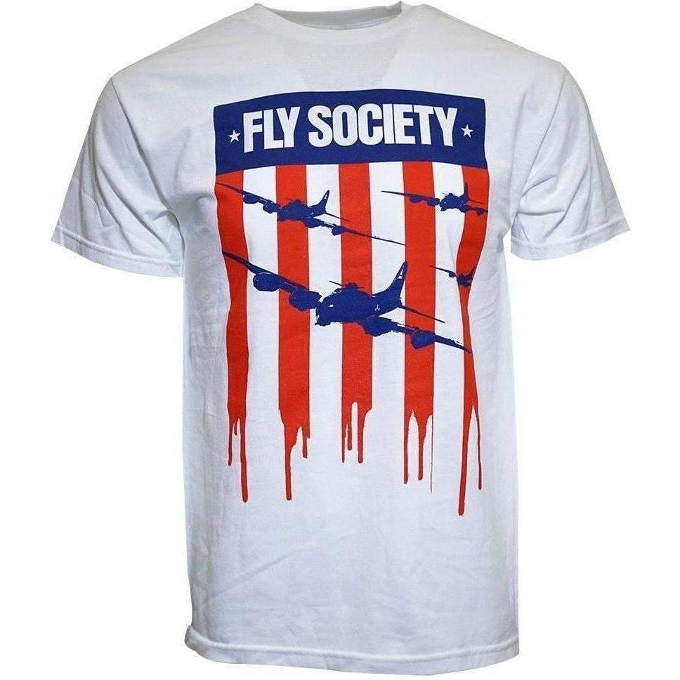 FLY SOCIETY FLAG DRIP MEN T SHIRT